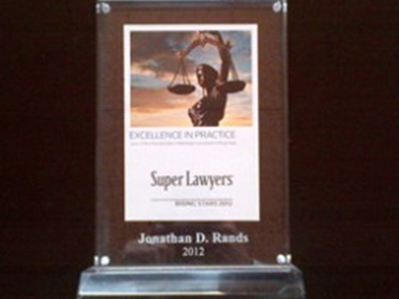 Bellingham DUI Lawyer, Jonathan Rands Honored As 2012 Super Lawyer – Rising Star
